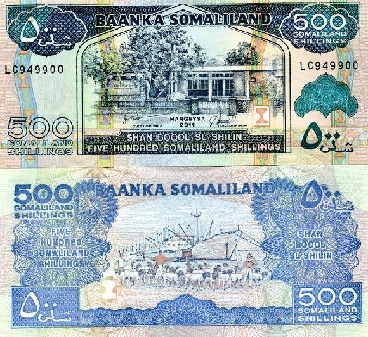 500 Šilingov Somaliland 2011