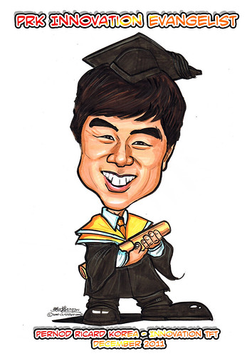 Caricature for Pernod Ricard Korea - Kangho