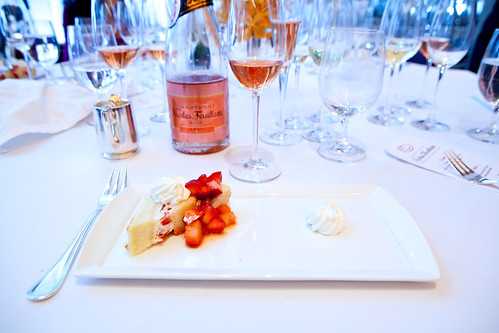 Dessert: Strawberry Shortcake paired with Nicolas Feuillatte Rosé NV
