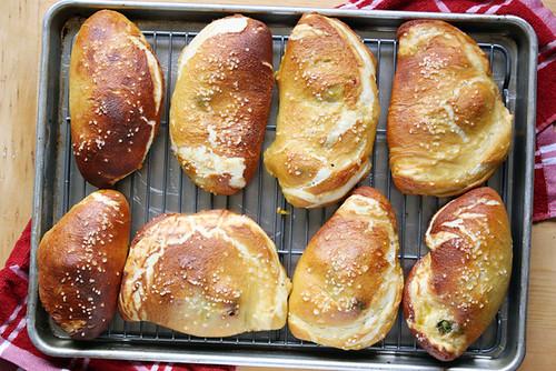 pretzel + calzone = love.
