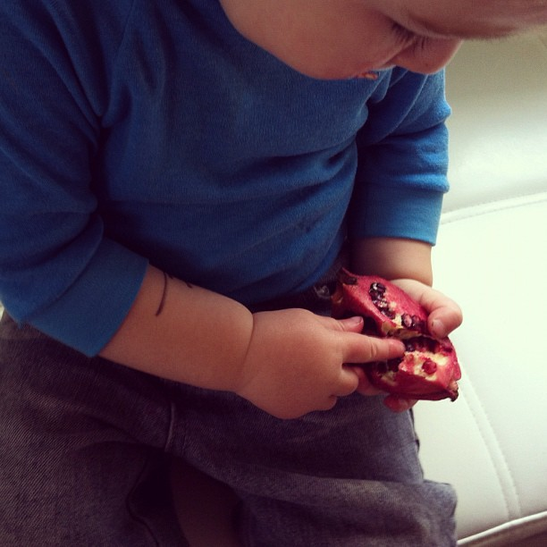 Pomegranate #yum #baby #blw