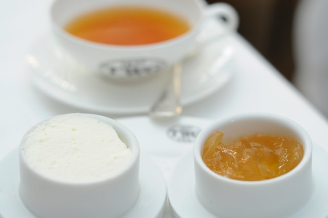 Whipped Cream, TWG Tea Jelly & Tea to go with the scones as part of the 1837 Tea Time Set Menu