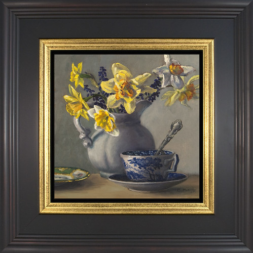 Spring Tea Time- framed