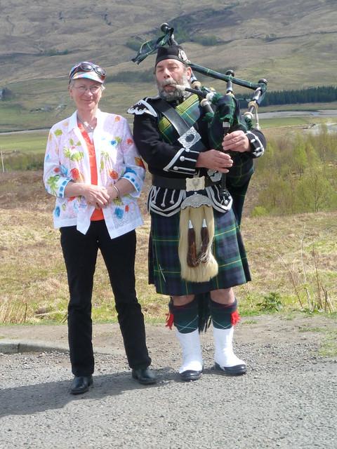 Piper at Rannoch Moor