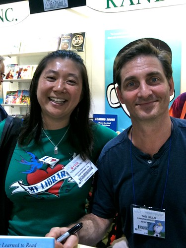 Me and author/illustrator Tad Hills