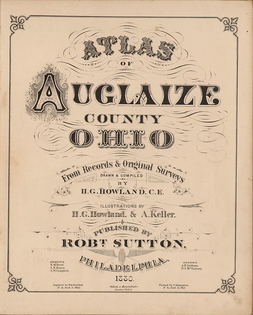 title page typography 19th c.