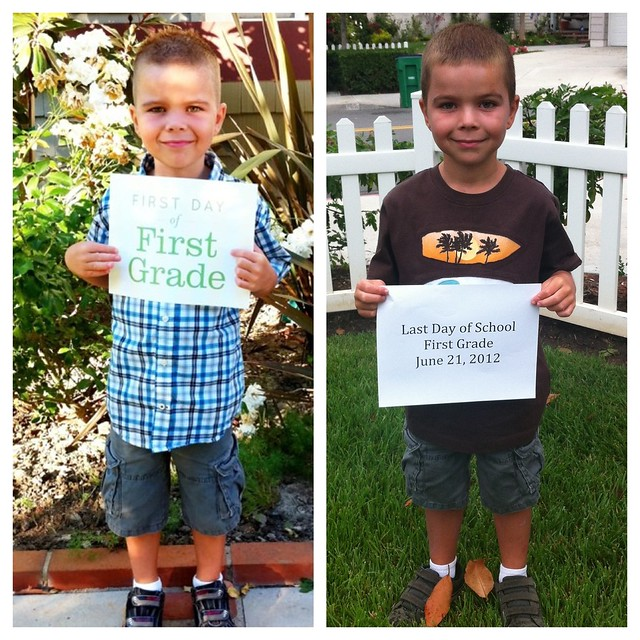 First Grade: First and Last Day of School!
