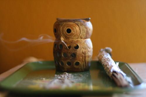owl incense burner