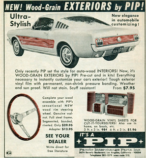 1966 Ford Mustang with PIP wood panels