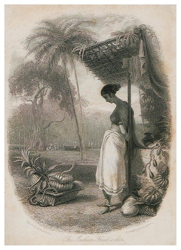 002-Vendedora de frutas-The oriental annual, or scenes in India..1835- William Daniell-© Universitätsbibliothek Heidelberg