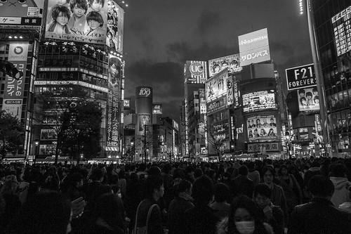 Shibuya Crossing at Night, Tokyo 2012
