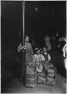 Marie Costa, basket seller, in a Cincinnati market. 10 A.M. Saturday, August 1908