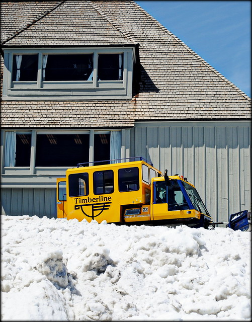 Snow removal at Timberline Lodge