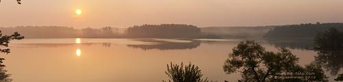 panorama orange lake fog sunrise jordanlakenc imaginefotocom