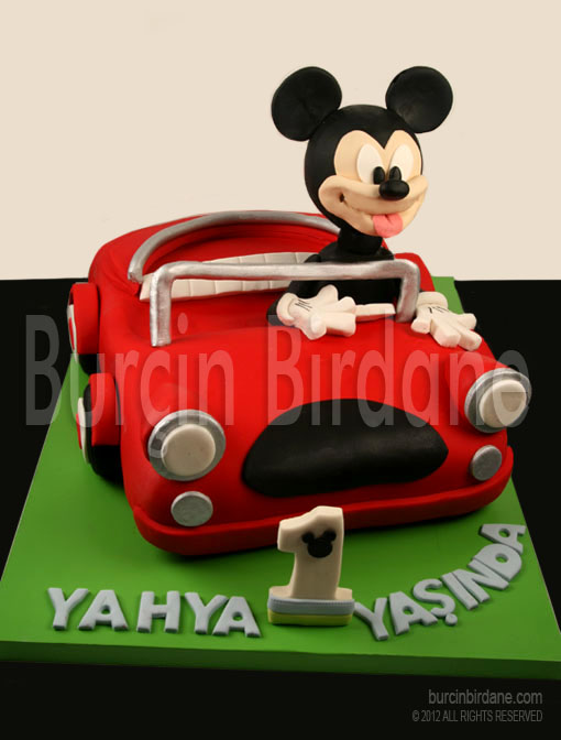 mickey ve araba pasta