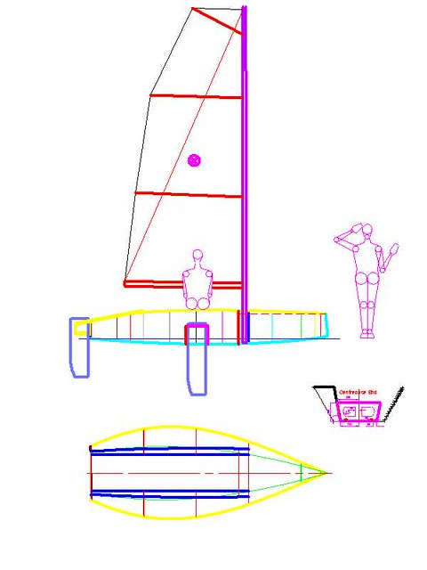 New 12 foot plywood sailboat by storer boat plans