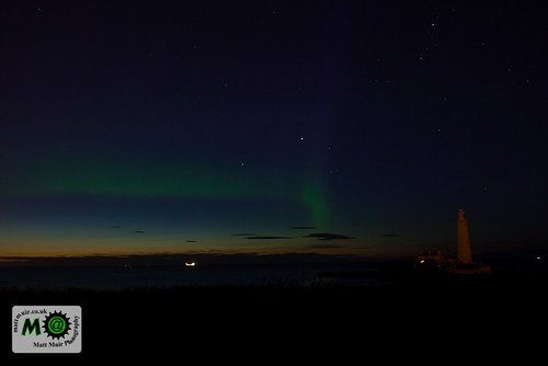 Photo ID 17 - Aurora Borealis @ St Mary's Lighthouse by mattmuir.co.uk
