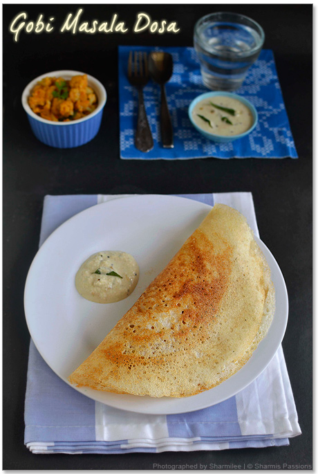 Cauliflower Masala Dosa Recipe