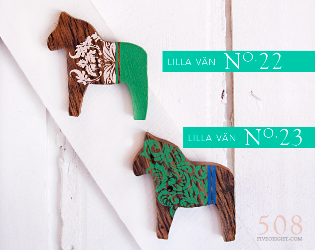 Lilla Vän: No.22 & No. 23 {MINI DALA HORSE}