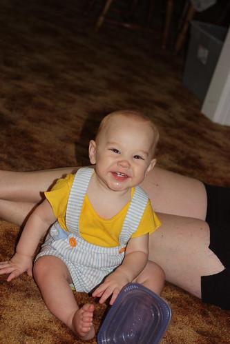 Soren smiles
