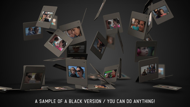Slides 3D portfolio black