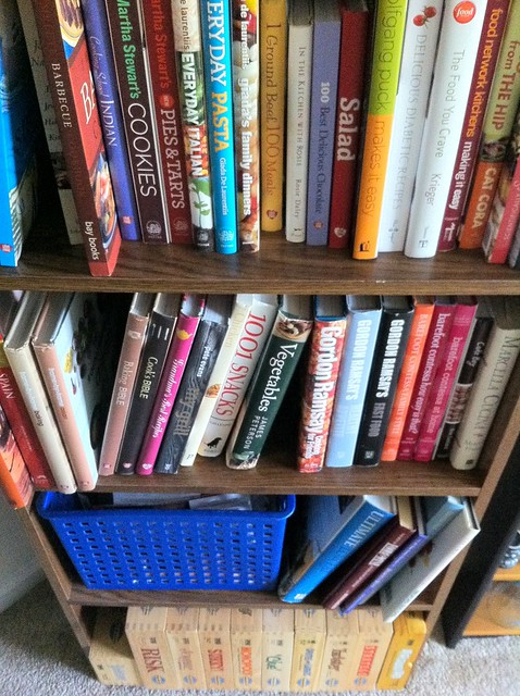 Full Bookcase of Cookbooks