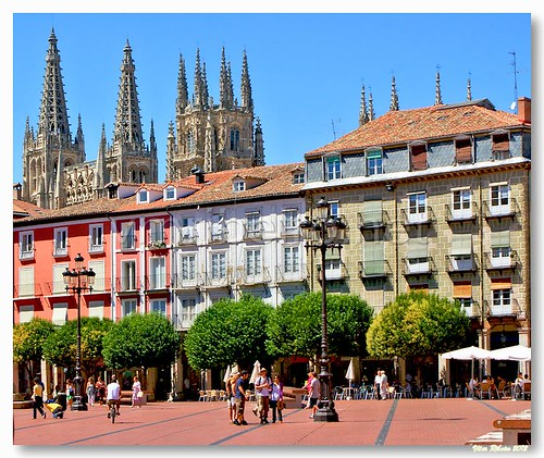 Plaza Mayor em Burgos by VRfoto