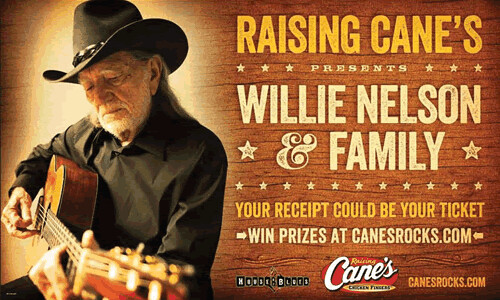Raising-Canes-bringing-country-legend-Willie-Nelson-to-HOB-in-Dallas-New-Orleans-August-21-22