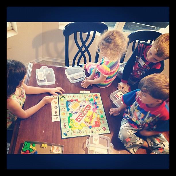 Family game night. #jrmonopoly #again