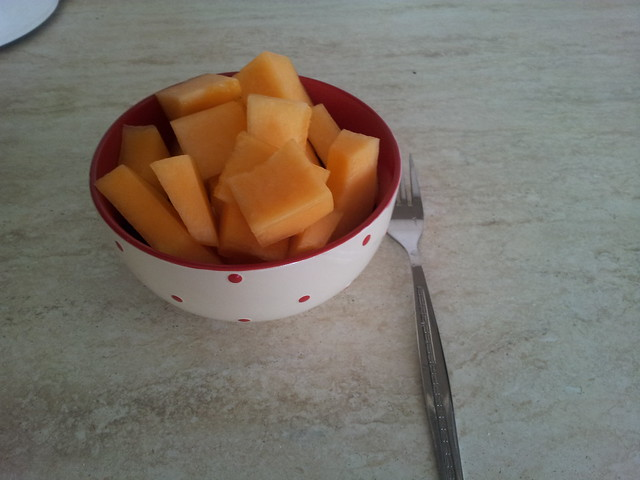 Bowl of cantaloupe