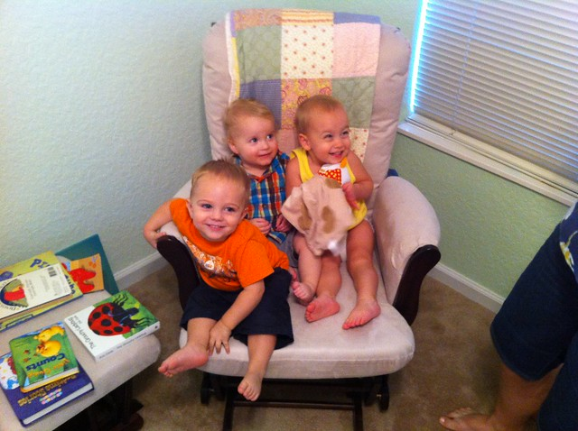 How many toddlers can you fit on a rocking chair?