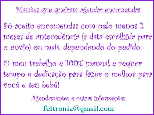 Sobre agendamentos... by Feltronia by Bia Leira