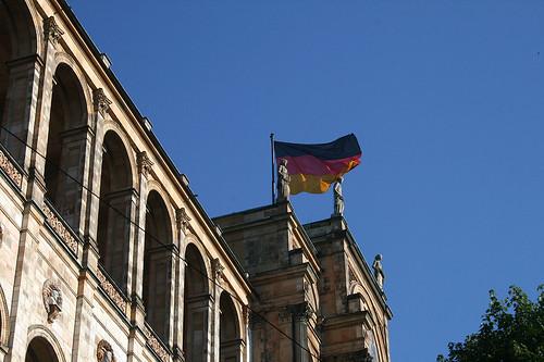 Deutsche Flagge - Bayrischer Landtag