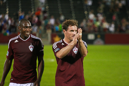 Luis Zapata and Jamie Smith, Rapids vs Real Salt Lake by Corbin Elliott Photography, denver photography