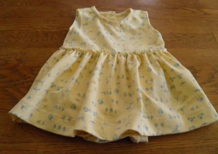 Yellow cotton knit dress