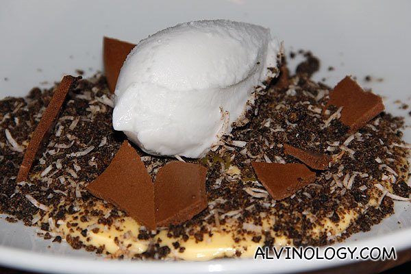 """""""Dirty Passion"""" Passion fruit custard, chocolate, coconut  (AUD$12)"""