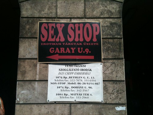 Sex shop and funeral services