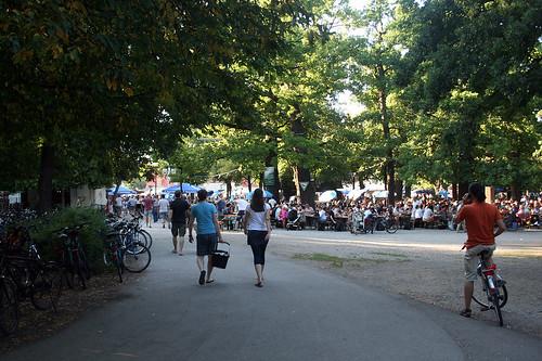 Biergarten im Hirschgarten