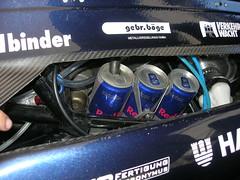 Kühlwasser-Überlaufbehälter bei einem Formula Student-Fahrzeug
