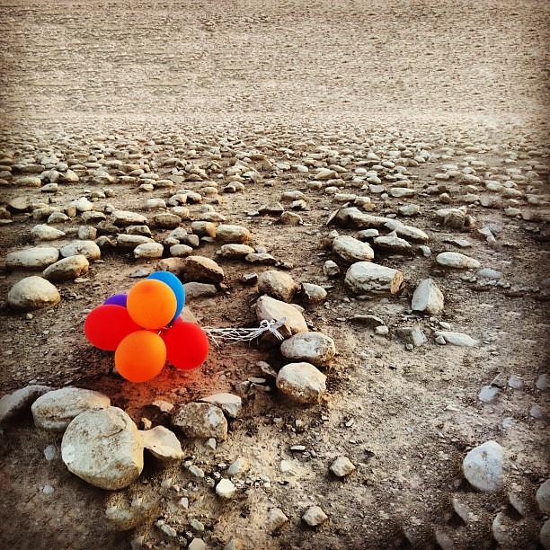 Balloons on the moon