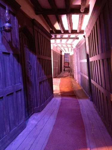A hallway in the Leaky Cauldron…