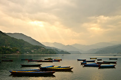 Boats on Phewa Lake [Explore]