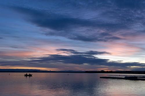 sunset lake reflection boat dock nikon colorful dusk idaho d700