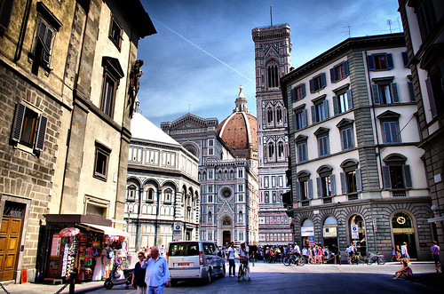 Italy Florence Piazza del Duomo August 2012