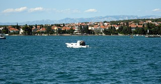 The Adriatic and the Velebit mountains as seen from Zadar
