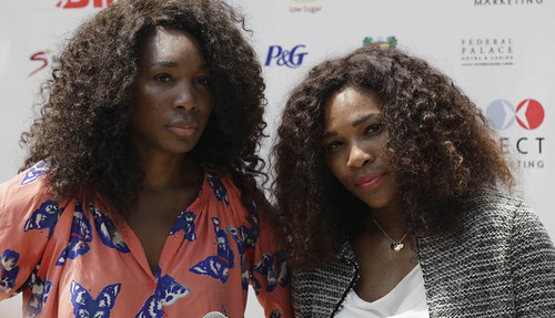 Tennis champions Venus and Serena Williams in the Republic of South Africa. The African American sisters are popular throughout the world. by Pan-African News Wire File Photos