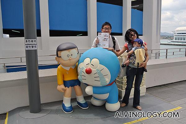 The scene whereby Doraemon bid farewell to Nobita
