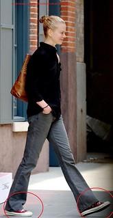 Nicole Kidman Converse Celebrity Style Women's Fashion