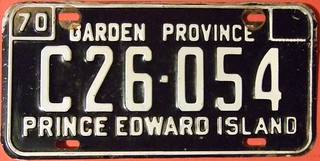 PRINCE EDWARD ISLAND 1970 ---COMMERCIAL LICENSE PLATE