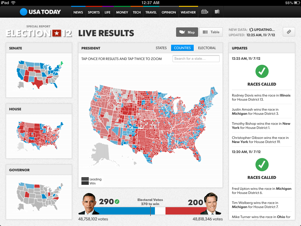 How We Built USA TODAYs Election Night Maps Points Of Interest - Live interactive map us election
